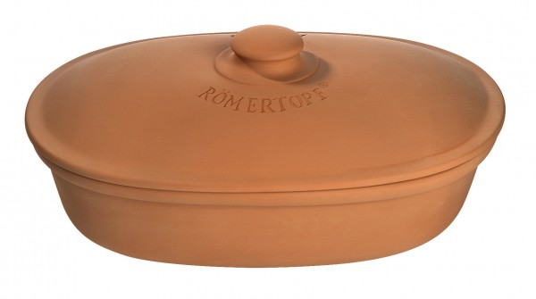 Römertopf - Brottopf oval terracotta